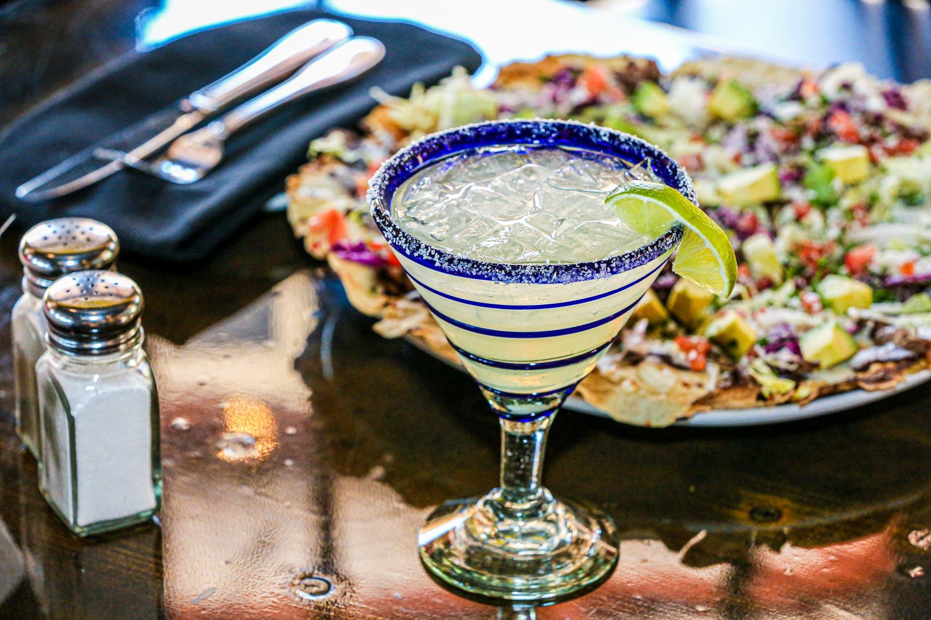 margarita glass on table